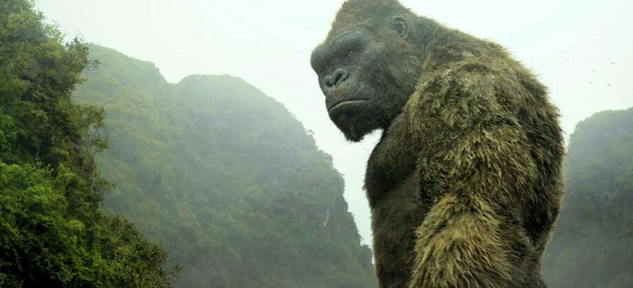 """This image released by Warner Bros. Pictures shows a scene from, """"Kong: Skull Island."""" (Warner Bros. Pictures via AP) Photo: AP / © 2016 Warner Bros. Entertainment Inc. All Rights Reserved."""