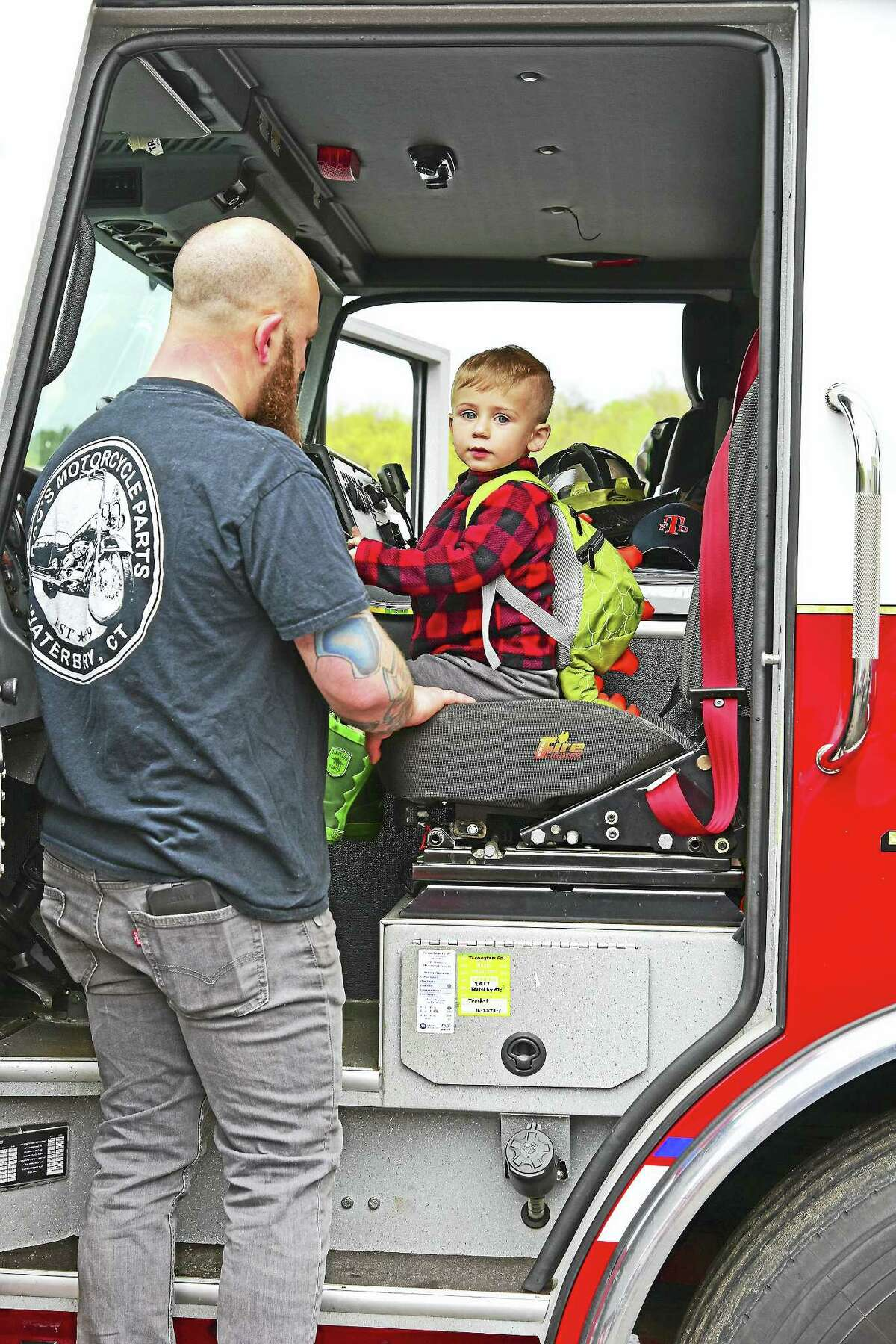 Children and their parents had the opportunity to explore all kinds of vehicles, from construction machines and trucks to emergency service vehicles, at O&G Industries' Touch-a-Truck event on May 6 in Torrington.