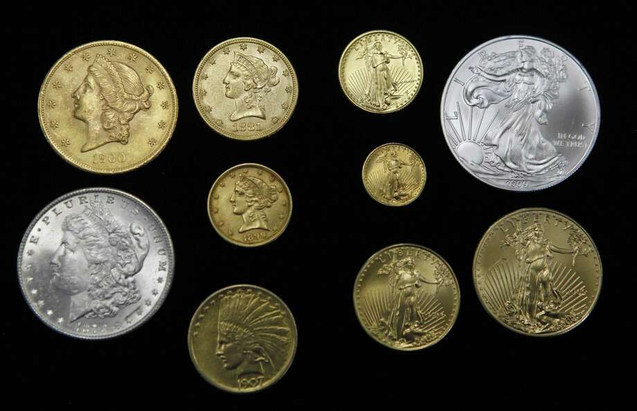 Coins photographed at Rocky Mountain Coin in Denver in 2012. Photo: Associated Press File Photo  / AP