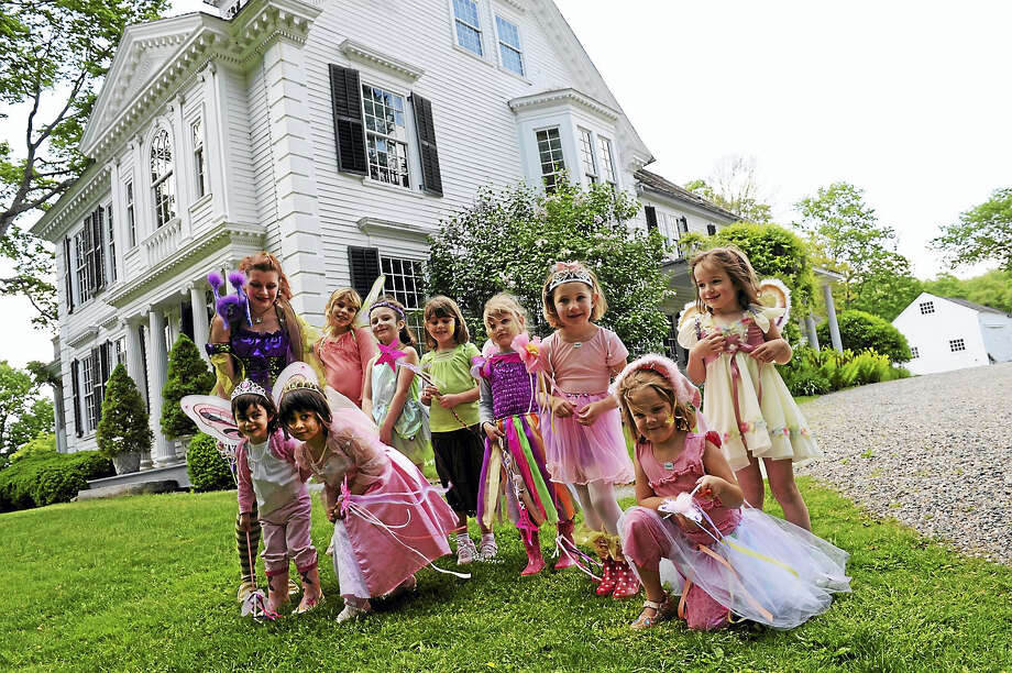 Children in fairy costumes play a game during a previous fairy festival at Bellamy-Ferriday House & Garden in Bethlehem. This year's festival will be held Saturday. Photo: Contributed Photos