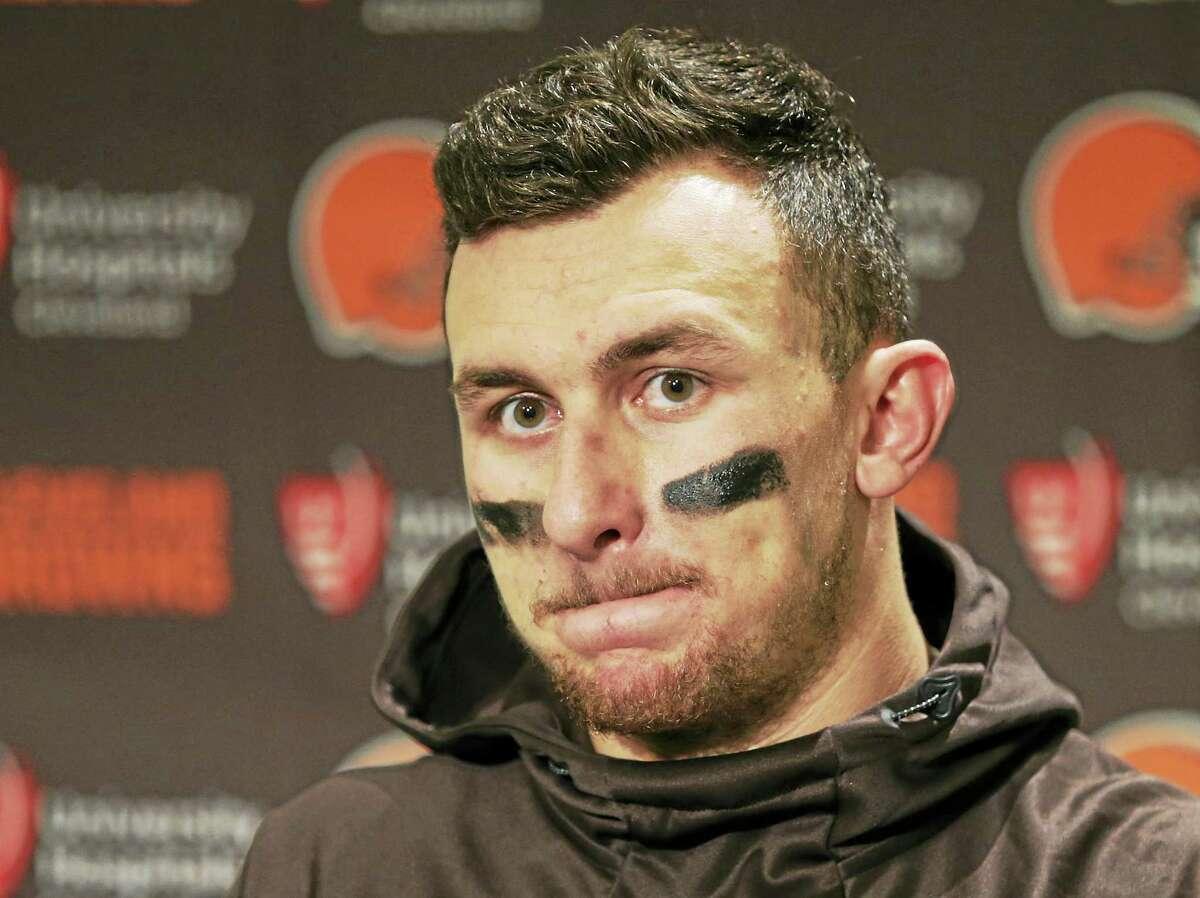 Former Cleveland Browns quarterback Johnny Manziel.