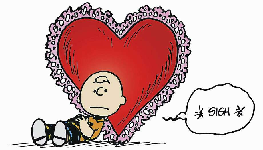 """Charlie Brown reflects on his love life in an illustration by his creator, Charles M. Schulz. """"Heartbreak in Peanuts"""" details the characters' unrequited love at the Mattatuck Museum in Waterbury, with an opening reception for the show on Sunday, May 21. The exhibit runs through Aug. 13. Photo: Contributed Photo"""