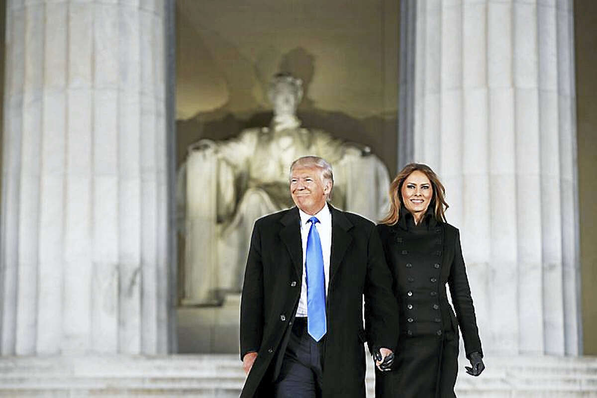 President-elect and Mrs. Trump at the Lincoln Memorial in Washington, D.C.