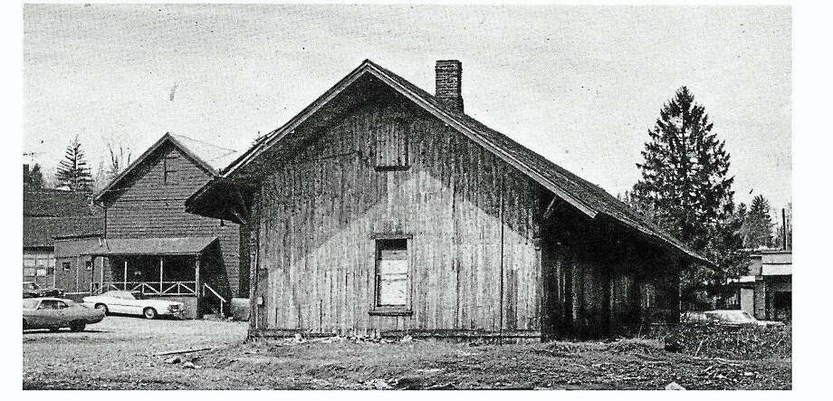 A vintage photo of the Watertown train depot, which was the subject of a program hosted by the Railroad Museum of New England in Thomaston, in Watertown. Photo: Contributed Photo