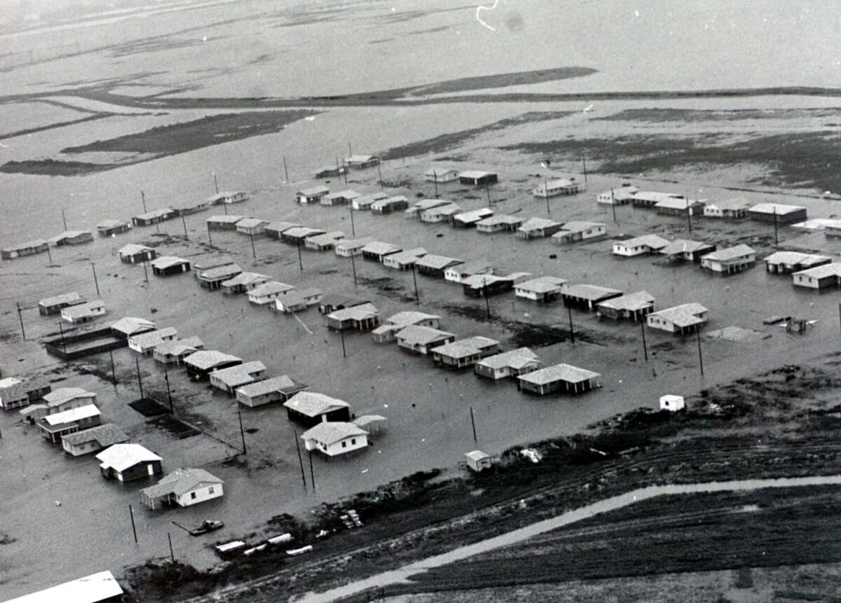 FILE - Port Acres, which is now part of Port Arthur, was also flooded by Hurricane Carla in 1961.