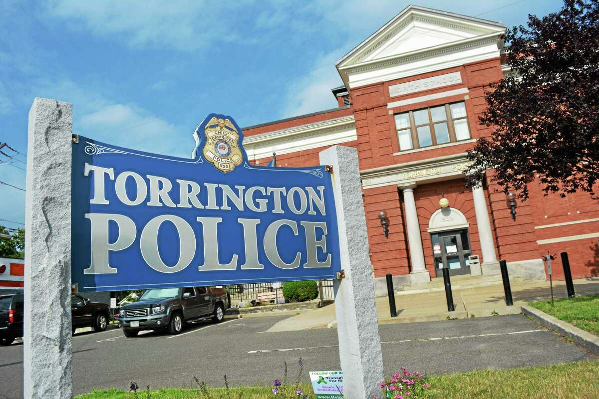 Tom Caprood - The Register Citizen The Torrington Police Department, located at the intersection of East Elm and Main streets.