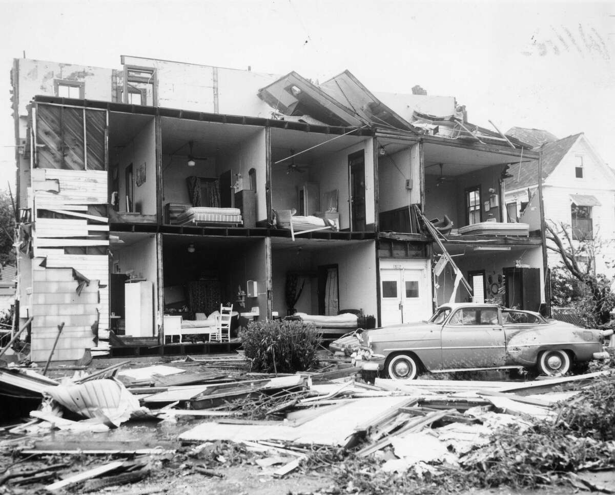 In 1961 Hurricane Carla hit Texas as a Category 4 storm (after downgrading from Category 5), killing 43 people and creating wide-spread damage in Texas. It was the last category-4 storm to make landfall in Texas.