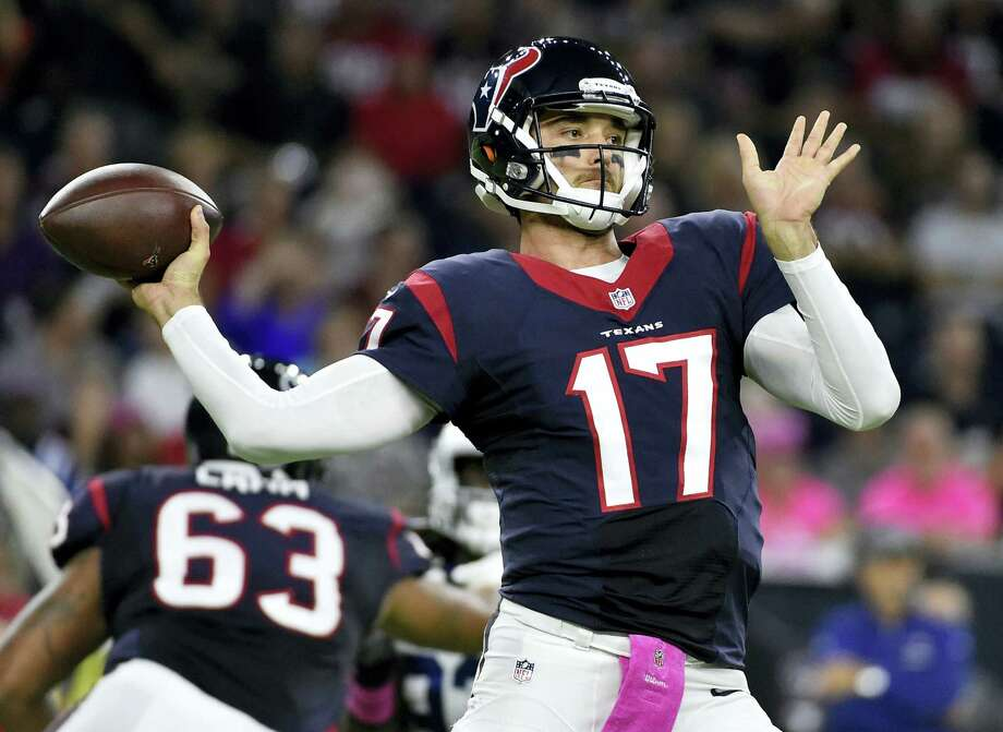 Quarterback Brock Osweiler was traded from the Texans to the Browns on Thursday. Photo: The Associated Press File Photo  / FR171023 AP
