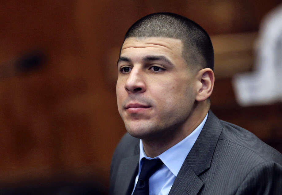 Angela Rowlings/The Boston Herald via AP, Pool, File In this Dec. 20, 2016 photo, Former New England Patriots NFL football player Aaron Hernandez appears during a hearing at Suffolk Superior Court in Boston. Hernandez is due in court Thursday, Jan. 19, 2017, when a judge is expected to hear arguments on defense motions. Photo: AP / Angela Rowlings/Boston Herald