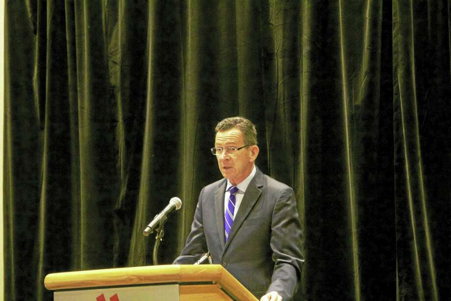 Gov. Dannel Malloy speaks at a press conference Thursday announcing a new public-private partnership aimed at increasing awareness about human trafficking in the state. (Anna Bisaro - New Haven Register) Photo: Digital First Media