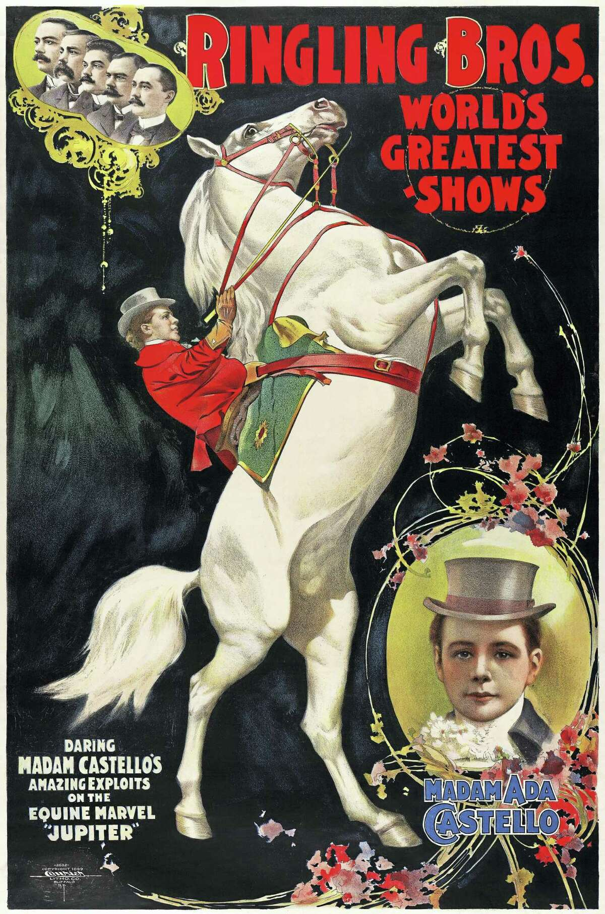 Ringling Bros. poster circa 1899; labeled for reuse, Flickr. The Greatest Show on Earth shall be no more after May 21.