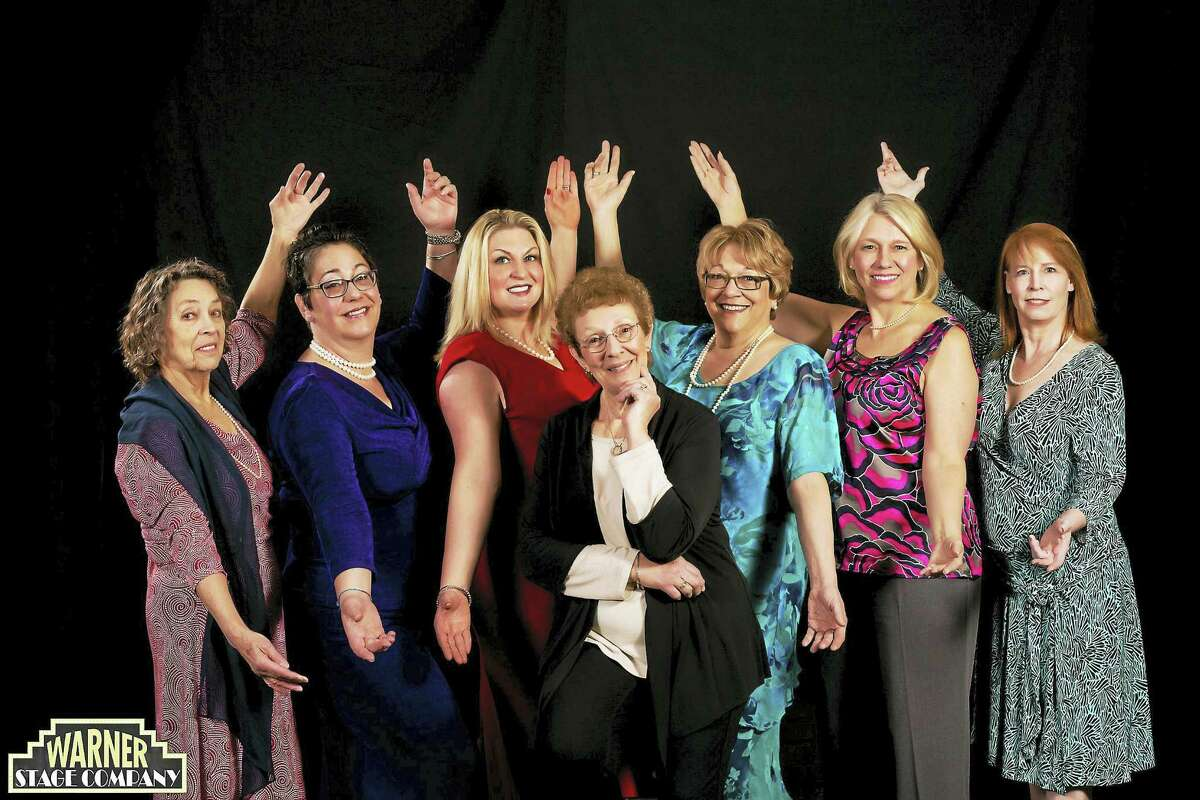 """The cast of """"Calendar Girls,"""" presented by the Warner Stage Company, performs the heartwarming tale on weekends through March 19."""