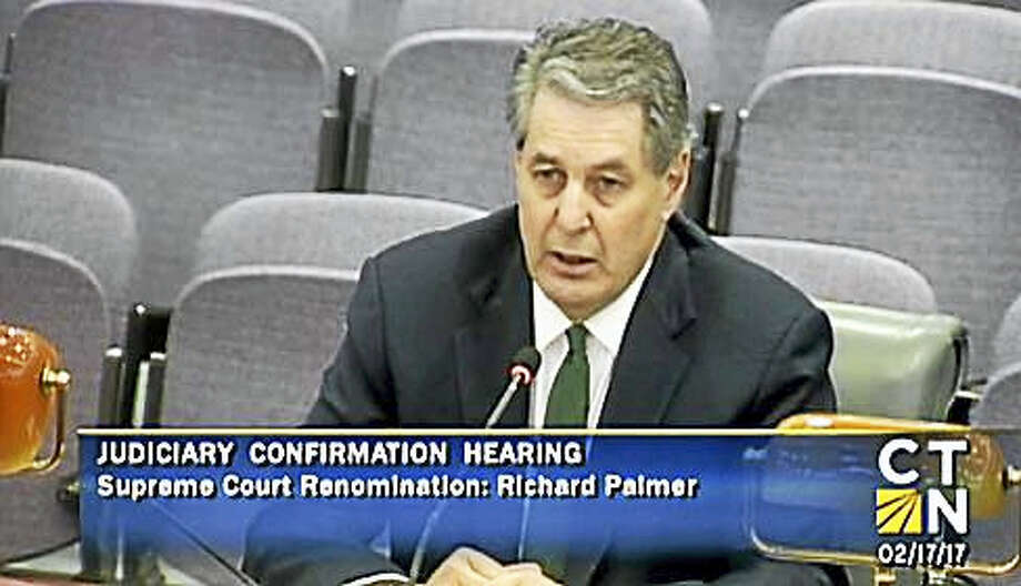 Justice Richard Palmer during his Feb. 17 confirmation hearing Photo: Courtesy Of CT-N