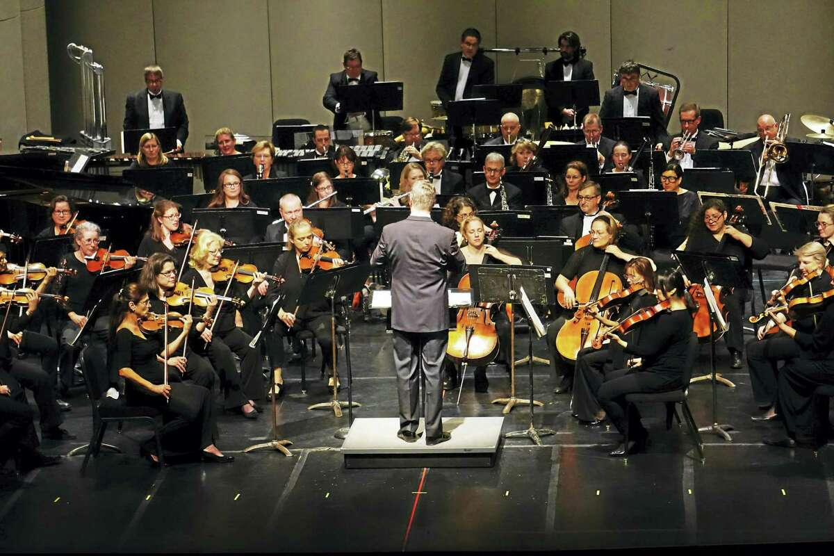 The Waterbury Symphony Orchestra in concert.