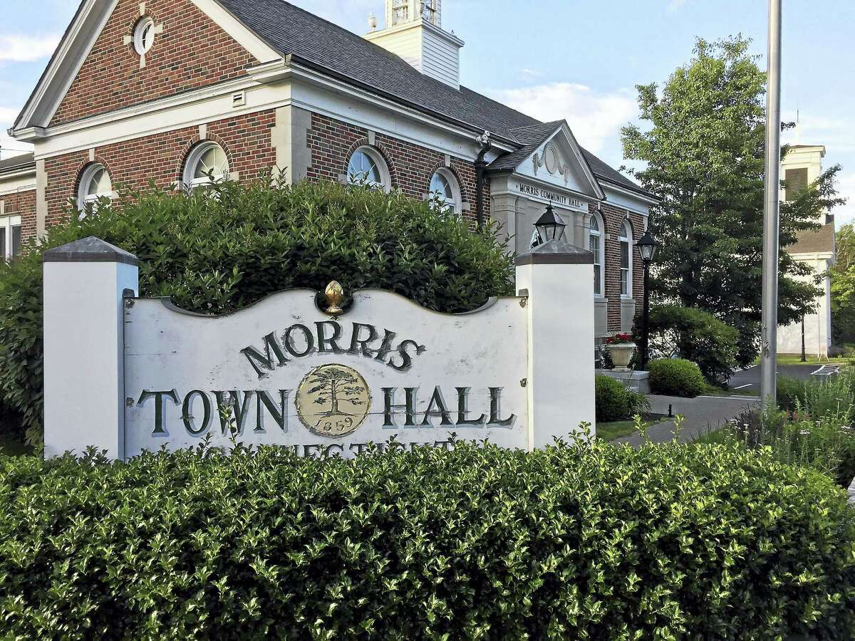 A view of the Morris Town Hall.