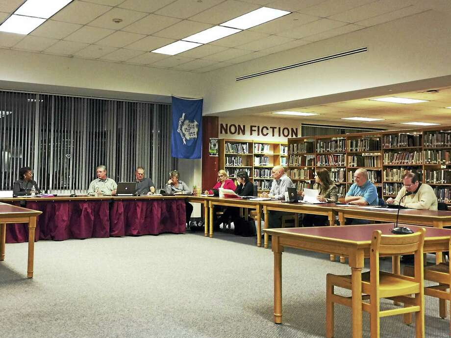 Superintendent Denise Clemons speaks with the Board of Education Wednesday. Clemons presented a proposed budget for $75.26 million, reflecting an increase of 4.65 percent. Photo: Ben Lambert — The Register Citizen