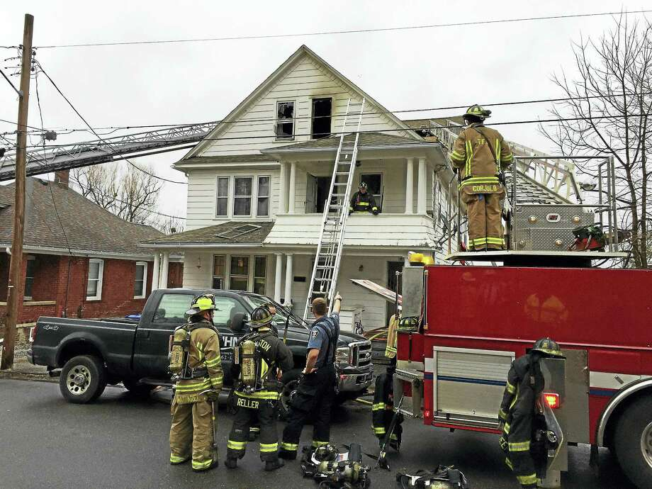 Ben Lambert - The Register CitizenTorrington firefighters responded to a fire at 179/181 Chestnut Avenue Wednesday afternoon. Photo: Digital First Media