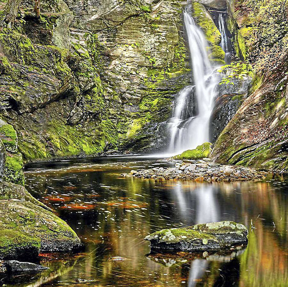 Enders Falls in Granby, Conn. (Photo via Connecticut Magazine) Photo: Digital First Media