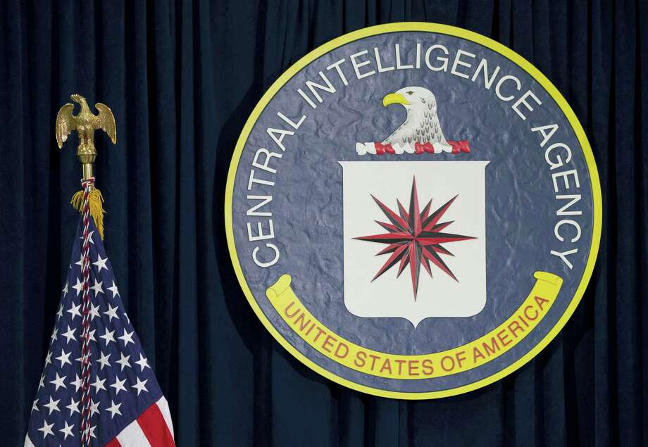 This April 13, 2016, file photo shows the seal of the Central Intelligence Agency at CIA headquarters in Langley, Va. An alleged CIA surveillance program disclosed by WikiLeaks on Tuesday, March 7, 2017, purportedly targeted security weaknesses in smart TVs, smartphones, personal computers and even cars, and enabled snooping that could circumvent encryption on communications apps such as Facebook'Äôs WhatsApp. WikiLeaks is, for now, withholding details on the specific hacks used. But WikiLeaks claims that the data and documents it obtained reveal a broad program to bypass security measures on everyday products. Photo: AP Photo/Carolyn Kaster, File   / Copyright 2017 The Associated Press. All rights reserved. This material may not be published, broadcast, rewritten or redistribu