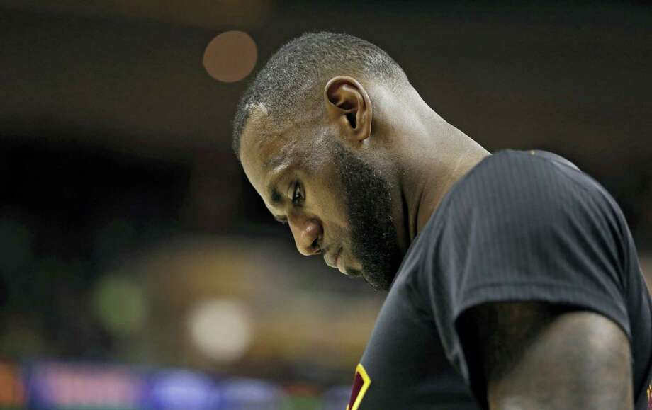 LeBron James looks down during a recent game. Photo: The Associated Press File Photo  / AP 2017