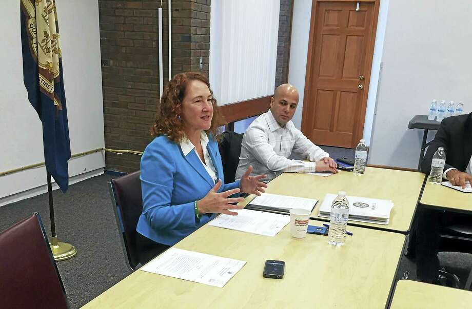 Connecticut U.S. Rep. Elizabeth Esty, D-5, speaks during a roundtable discussion at Meriden Public Library Tuesday about immigration and potential immigration reforms. Photo: Esteban L. Hernandez — New Haven Register