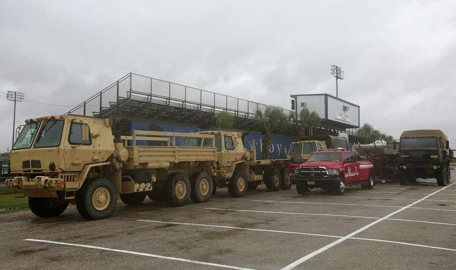 Texas Task Force One personnel brought emergency responding vehicles to deal with the aftermath of Hurricane Harvey Friday, Aug. 25, 2017, in Edna, Texas. Photo: Godofredo A. Vasquez, Houston Chronicle / Godofredo A. Vasquez