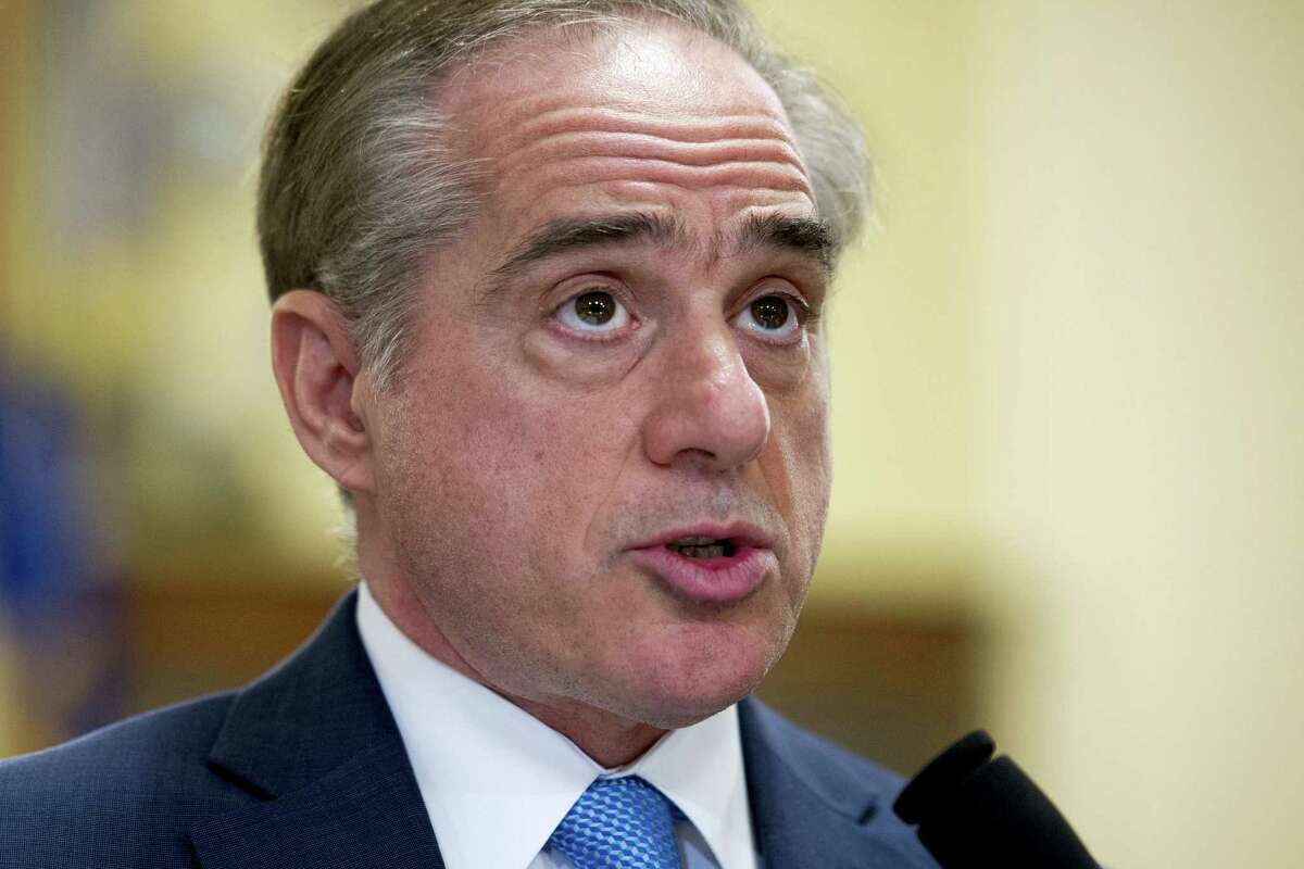 In this March 7, 2017, file photo, Secretary of Veterans Affairs David Shulkin, addresses a House Veterans' Affairs Committee hearing on Capitol Hill in Washington.