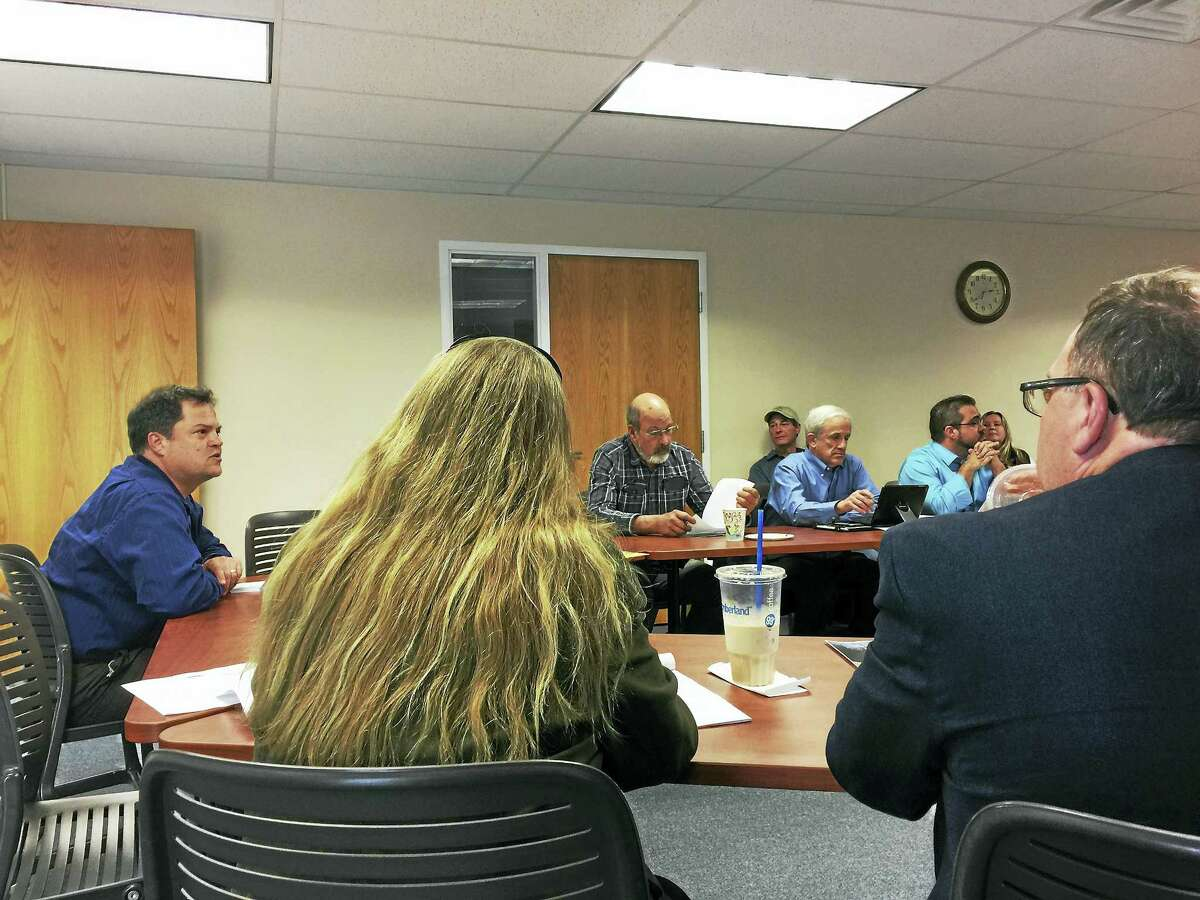 Tim Abbott of the Housatonic Valley Association speaks with the Northwest Hills Council of Governments Thursday in Goshen.