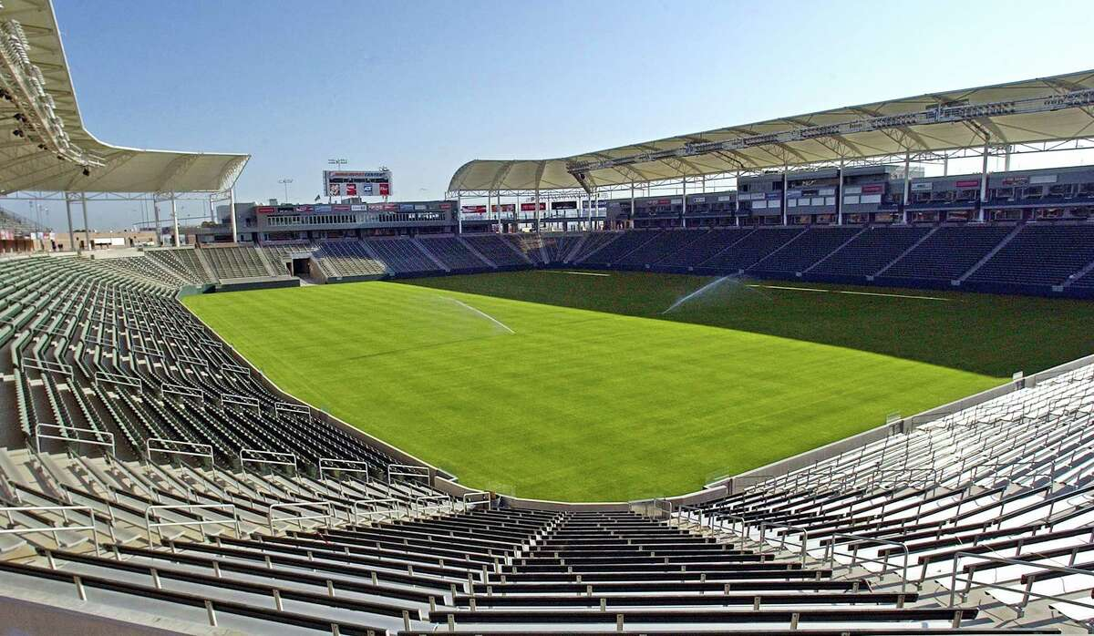 This May, 2003 photo shows what was then known as Home Depot Center, renamed in June of that year to StubHub Center, In Carson, Calif. Currently home to the MLS Los Angeles Galaxy soccer team, StubHub Center will become the temporary home of the Los Angeles Chargers NFL football team when it moves to Los Angeles in the fall of 2017.