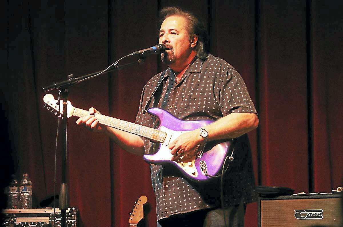 """Blues guitarist and singer and former member of John Mayall & the Bluesbreakers, Coco Montoya, performs to a packed house of fans at 41 Bridge Street Live in Collinsville on April 30. Coco starting his musical career in the mid 1970s when guitarist Albert Collins asked him to join his band as drummer. Collins took Montoya under his wing and taught him his """"icy hot"""" guitar style. The two remained friends even after Montoya left Collins' band. To learn more this blues guitarist you can visit his website at www.cocomontoyaband.com"""