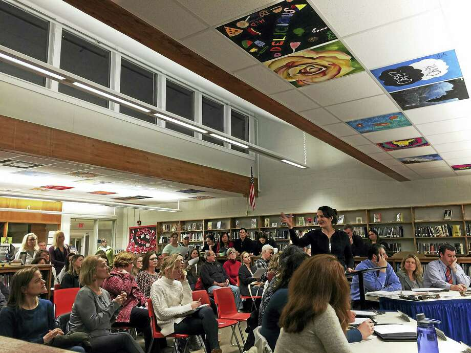 """Litchfield parents shared their concerns with the town schools and Board of Education Wednesday. To further the discussion, the board and the group are meeting March 8 for a """"community conversation."""" Photo: Ben Lambert — The Register Citizen"""