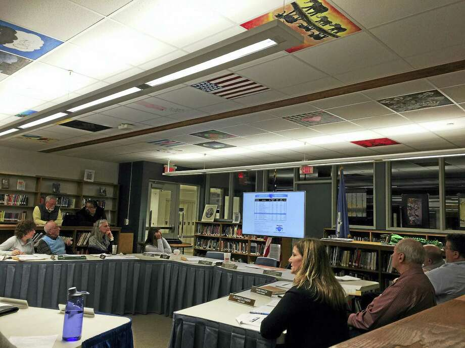 Superintendent Sherri Turner discussed the proposed 2017-18 budget for the Litchfield public schools Wednesday with the Board of Education. Photo: Ben Lambert — The Register Citizen