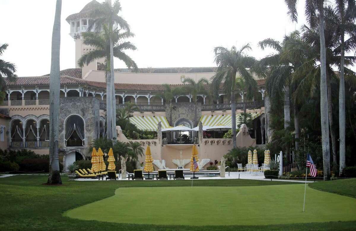 In this April 15, 2017, file photo, President Donald Trump's Mar-a-Lago estate in Palm Beach, Fla.