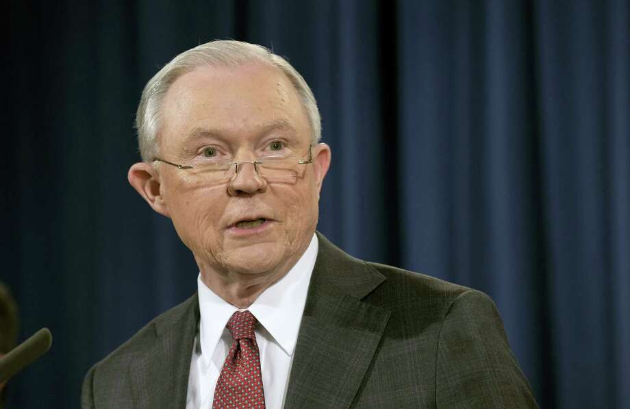 Attorney General Jeff Sessions speaks at the Justice Department in Washington, Thursday, March 2, 2017. Photo: AP Photo/Susan Walsh  / Copyright 2017 The Associated Press. All rights reserved.