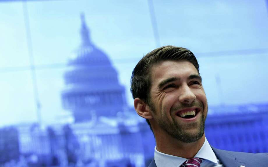 Olympic swimmer Michael Phelps testifies on Capitol Hill in Washington on Tuesday. Photo: Susan Walsh — The Associated Press  / Copyright 2017 The Associated Press. All rights reserved.