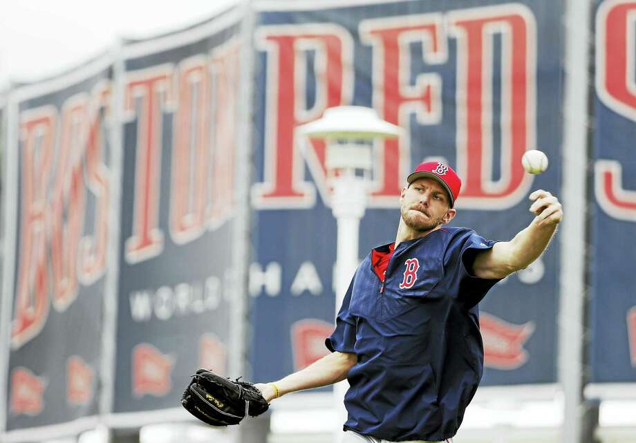 Red Sox pitcher Chris Sale throws the ball earlier this month. Photo: The Associated Press File Photo  / Copyright 2017 The Associated Press. All rights reserved.