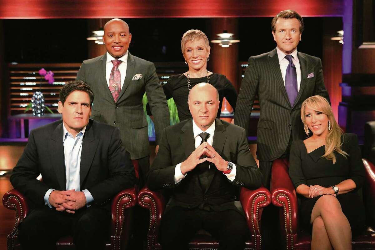 "SHARK TANK - Mark Cuban, Daymond John, Barbara Corcoran, Kevin O'Leary, Robert Herjavec and Lori Greiner are ""Sharks"" on ABC's ""Shark Tank."""