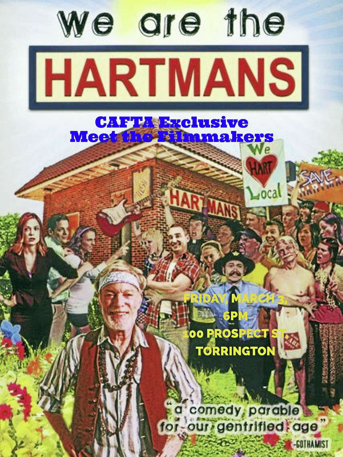 """Contributed photoCAFTA will screen """"We are the Hartmans"""" with the filmmakers on Friday, March 3 at the arts center on Prospect Street in Torrington."""