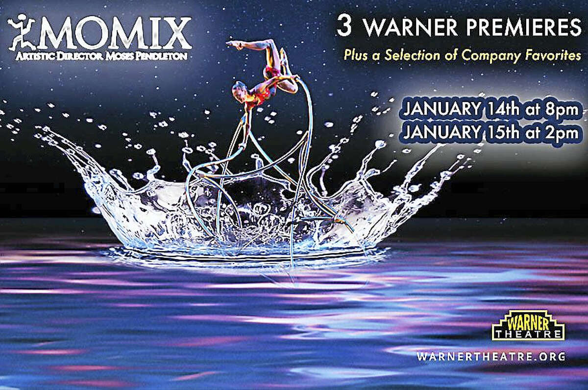 Contributed photoMOMIX performs at the Warner Theatre in Torrington this weekened. Students from Northwestern CT Community College attended a retreat with the dance company on Friday.