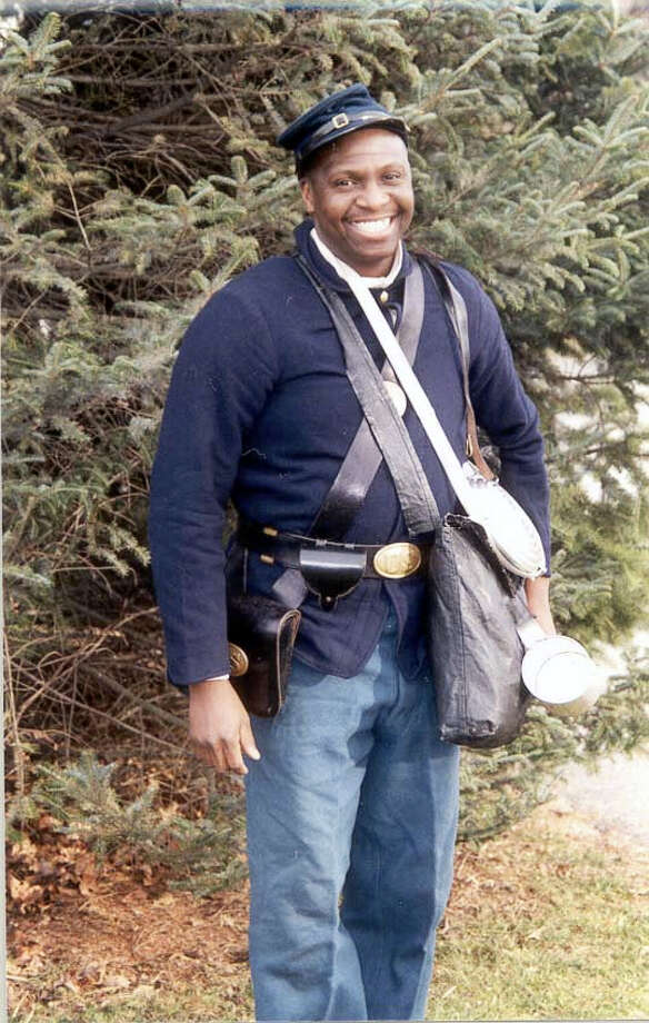 Kevin Johnson, pastor of AME Zion Church in Torrington and research assistant at the CT State Library will present his widely acclaimed and deeply moving performance of William Webb, an African-American Civil War Soldier from Connecticut, during Tuesday's celebration of John Brown's birthday. Photo: Contributed Photo