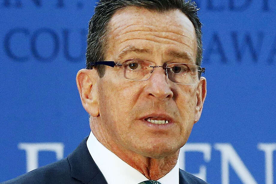 Gov. Dannel P. Malloy speaks after receiving the John F. Kennedy Profile in Courage Award at the John F. Kennedy Presidential Library in Boston in May 2016. Photo: Michael Dwyer — AP File Photo / Copyright 2016 The Associated Press. All rights reserved. This material may not be published, broadcast, rewritten or redistribu