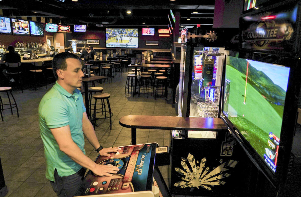 In his best year, Andrew Haas brought home over $100,000 playing Golden Tee in competitions.