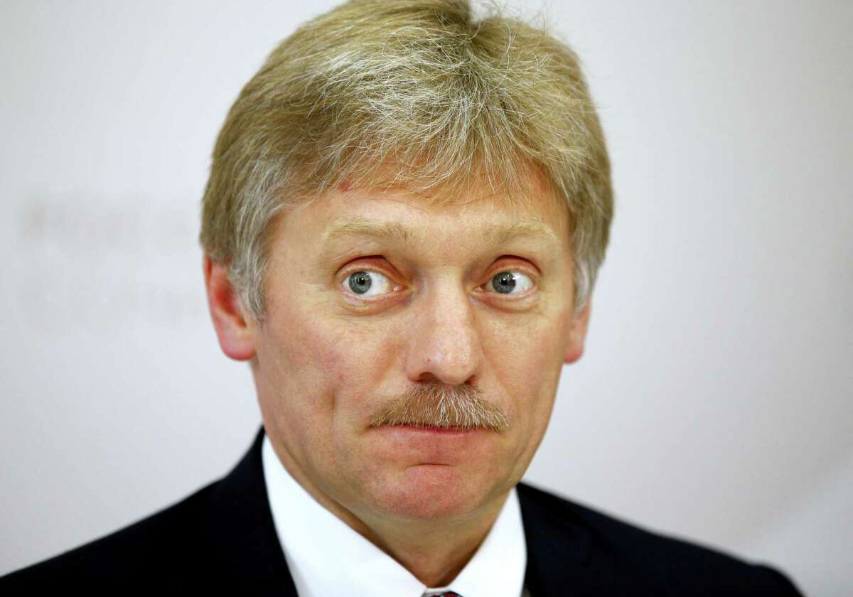 """In this file photo taken on May 19, 2016, Russian President Vladimir Putin's press secretary Dmitry Peskov listens for a question during his news conference at the ASEAN Russia summit, in the Black Sea resort of Sochi, Russia. A spokesman for President Vladimir Putin on Wednesday Jan 11, 2017 denied allegations that the Kremlin has collected compromising information about U.S. President-elect Donald Trump, deriding the claim as a """"complete fabrication and utter nonsense."""""""