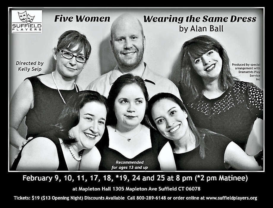 Contributed photo 'Five Women Wearing the Same Dress' opens in Suffield on Feb. 9. Photo: Digital First Media