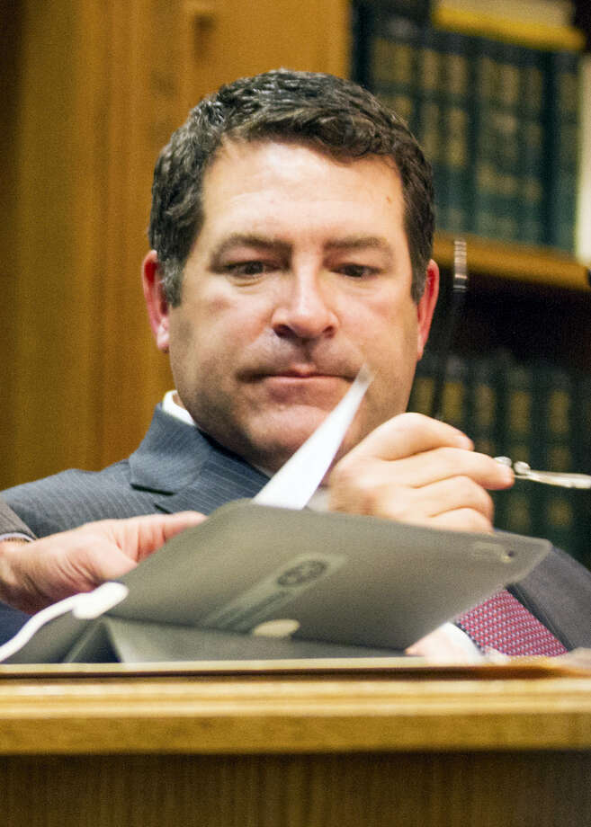 In this April 9, 2013, file photo, state Tennessee Sen. Mark Green participates in a Senate Judiciary Committee hearing in Nashville, Tenn. Green, President Donald Trump's pick for Army secretary isn't fit to lead the service, a senator wounded in combat said Friday as scrutiny over the nomination intensified. Democrat Tammy Duckworth of Illinois, who lost her legs and partial use of her right arm during the Iraq war, said she's opposing Green's nomination over his insensitive remarks and attitudes toward LGBT Americans and Muslims. Photo: AP Photo/Erik Schelzig, File   / Copyright 2017 The Associated Press. All rights reserved.