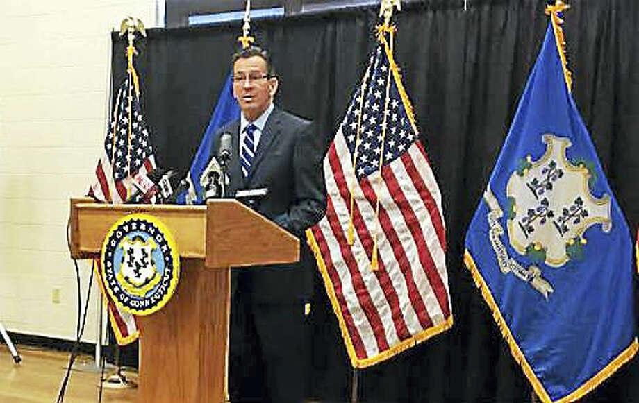 Gov. Dannel P. Malloy outlines the legislation at the Asylum Hill Boys and Girls Club in Hartford. Photo: Jack Kramer — Ctnewsjunkie
