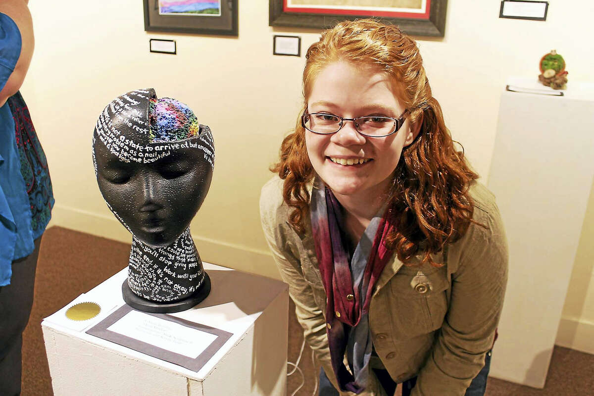Contributed photo Students will show their work at the Kent Art Association starting Sunday, March 4, with an opening reception and awards presentation. The public is welcome. Above is Sarah Remling, a winner in the 2016 student show.
