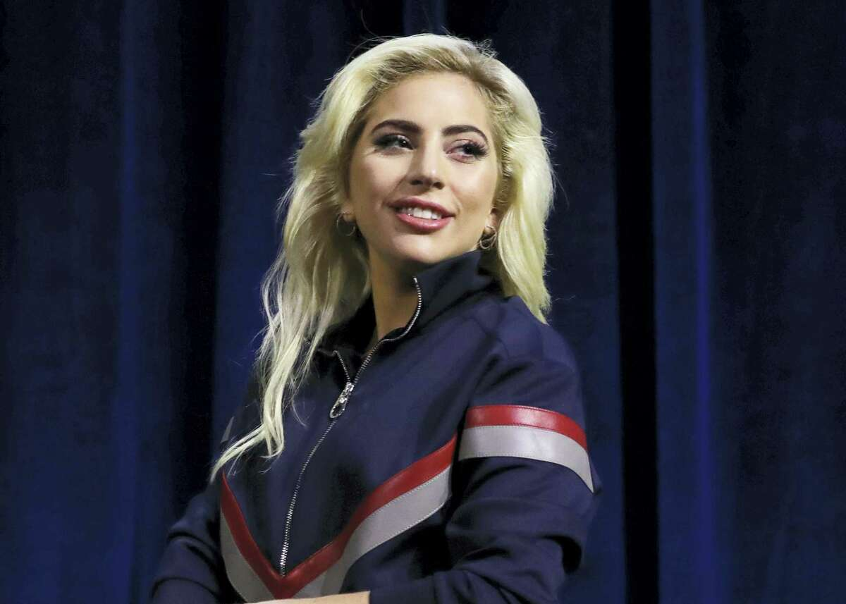This Feb. 2, 2017 photo shows Lady Gaga at a news conference for the NFL Super Bowl 51 football game in Houston. The diva announced Tuesday, Feb. 28 that she will be performing at Coachella for both weekends in April. Gaga will take the headlining spot that had been Beyonce's.