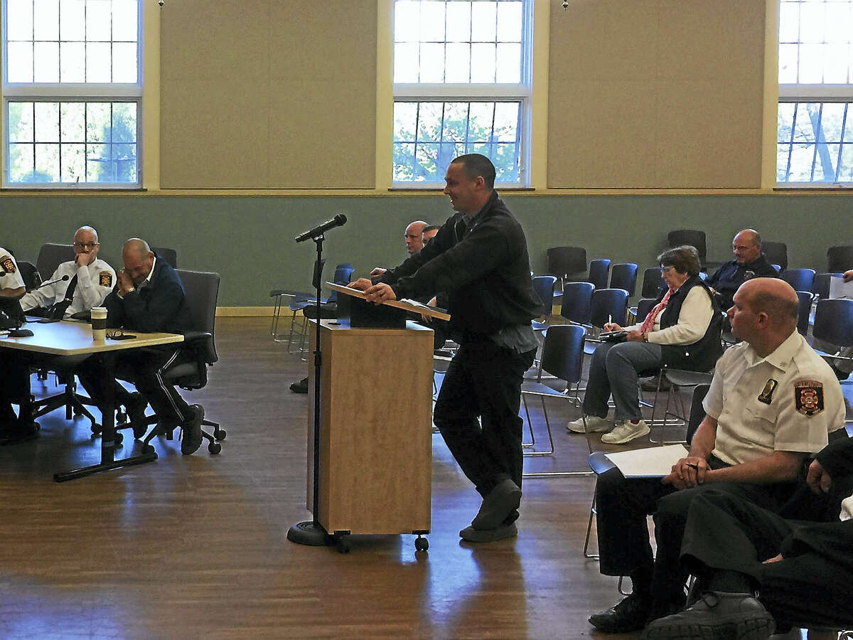 Joshua Cote, chief of the Torringford Volunteer Fire Department, announced plans to resign Wednesday before the Torrington Board of Public Safety.