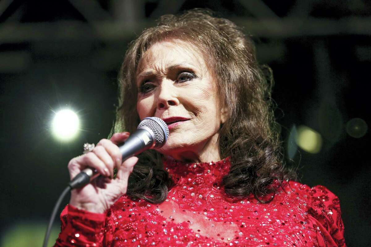 In this March 17, 2016 file photo, Loretta Lynn performs at the BBC Music Showcase at Stubb's during South By Southwest in Austin, Texas. A posting on country music legend Lynn's website says she has been hospitalized after having a stroke. The posting says Lynn was admitted into a Nashville hospital on Thursday night, May 4, 2017, after suffering the stroke at her home in Hurricane Mills, Tenn.